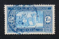 Senegal 1933 VFU Sc 116 Senegalese people 1.50 Fr value with blue cancel