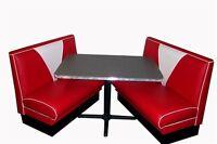 NEW 57 Chevy V Back Diner Booth Set , Restaurant, Cafe