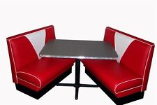 NEW 57 Chevy V Back Diner Booth Set , Restaurant, Cafe