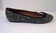 Jeffrey Campbell Suede Silver Bronze Gold Tone Paisley Studded Ballet Flats 7