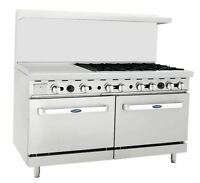 """NEW HEAVY 60"""" RANGE 24"""" GRIDDLE 6 BURNERS 2 FULL OVENS STOVE  NATURAL GAS ONLY"""