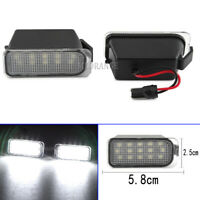 Pair LED Number License Plate Light Lamps For Ford Fiesta Focus Galaxy 2008-2020