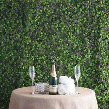 11 sq ft Green & Purple Artificial Fern Leaves Clover Wall Backdrop Panels