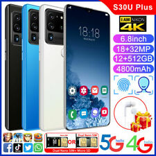 12G+512G Smart Mobile Phone 7.2In Android 10 10-Core Face Unlock Smartphone Gift