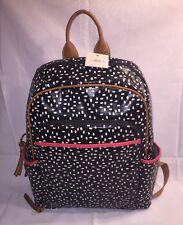 NWT Fossil Women's Keyper Backpack -Black & White Polka Dot Print