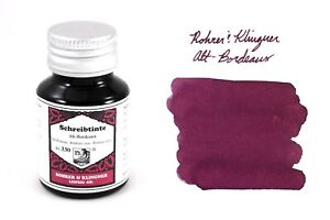 Rohrer & Klingner Alt-Bordeaux Bottled Ink - 50ml - Purple