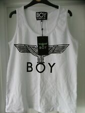 BOY London Mens Vest T Shirt XS punk white Eagle all tags