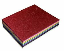 36 Pack Glitter Foam Sheets 9 x 12 Inch by Better Office Products Assorted 12.