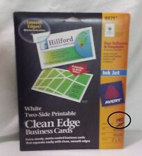 Avery 8871 Clean Edge Matte White Ink Jet Business Cards 2 X 3 12 Open Box
