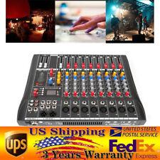 8 Channel Professional bluetooth Live Studio Audio Mixer power mixing Amplifier