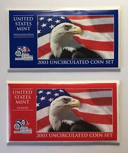 2003 U.S. Mint Uncirculated Coin Set from Philadelphia & Denver Mints 20 Coins