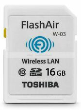 Toshiba 16GB SDHC FlashAir Wifi Class 10 Wireless Memory Card  16 G GB SD HC