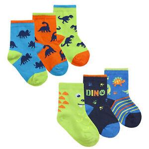 Zest Baby Boys Dinosaur Themed Cotton Rich Socks