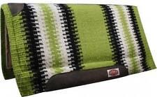 "Showman LIME GREEN 36""x 34"" Wool Top Memory Felt Bottom Cutter Style Saddle Pad!"
