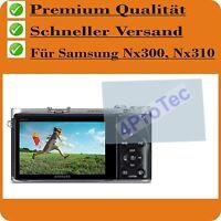 4X Samsung NX300 NX310 Crystalclear LCD Screen Guard Protector de Pantalla