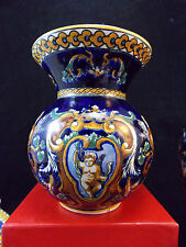GIEN - DECOR RENAISSANCE- ANCIEN VASE BOULE -ANGELOTS PUTTIS