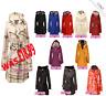 Ladies Jacket Coat Womens Over Dress Trench Rain Top Size S M L XL 8 10 12 14