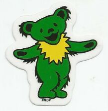 "(#93) MINI GREEN Grateful Dead DANCING BEAR 2.5"" window / bumper sticker AF704"
