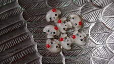 Puppy Flatback Cabochon Deco Diy Decoden White Kawaii Supply Qty: 6 Dog