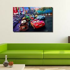 40×60×3cm Disney Cars Lightning McQueen Tow Mater Canvas Print Framed Wall Art