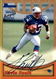 1999 Bowman Autographs #A28 KEVIN FAULK Auto New England Patriots  Football