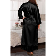 Sexy Hot Womens Silk Stain Kimono Dressing Gown Bath Robe Babydoll Nightdress