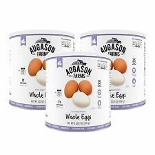 Augason Farms Dried Whole Eggs Emergency Storage Food - 3 Pack of Size #10 Can