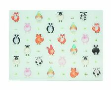 BACK TO FRONT Glass WORKTOP SAVER Chopping Board FARM Wild ANIMALS