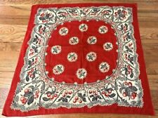 Early Antique Cherries Handkerchief Bandanna Collection Find
