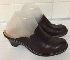 Bjorndal Pluto clogs Women's Brown Leather Mules Shoes Size 7.5 M 136134
