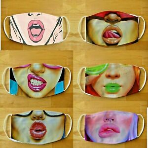 Face Mask Breathable funny womens / teens face Washable Reusable  Face Cover UK