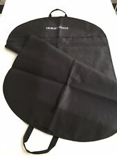 Giorgio ARMANI Black Garment Travel Suit Dust Bag Cover Zipper NEW