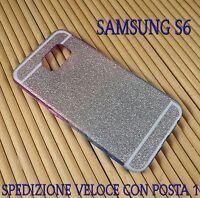 Cover case custodia gel in gomma silicone per Samsung S6 G920 Brillantinata