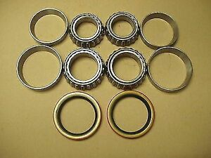 62 - 83  JEEP   FRONT OUTER INNER WHEEL BEARINGS + SEALS some applications