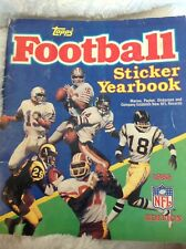 TOPPS 1985 EDITION FOOTBALL STICKER YEARBOOK- MONTANA, MARINO, PAYTON