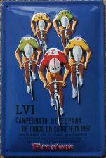 Cartel de ciclo Vintage Racing 1957 ciclismo Metal SIGN-Firestone