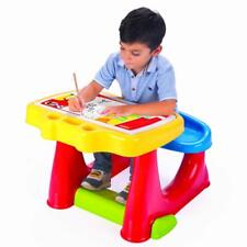 Dolu Toddler Kids Art Craft Creative Study Desk Table Bench Chair Multicolour