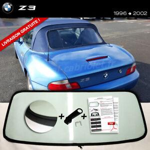 Lunette arrière BMW Z3 Cabriolet VERT ORIGINE fermeture éclair envoi gratuit