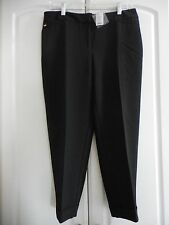 WHBM White House Black Market Soft Drape CROP BLACK PANTS NEW Size 2