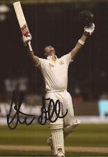 AUSTRALIA: STEVEN SMITH SIGNED 6x4 ASHES TEST DOUBLE CENTURY ACTION PHOTO+COA