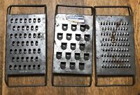 Vintage Bromwell Salad Set Graters set of 3metal flat graters