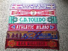 lotto 6 sciarpe FOOTBALL CLUB ESPANA FC calcio scarf bufanda spagna spain lot f