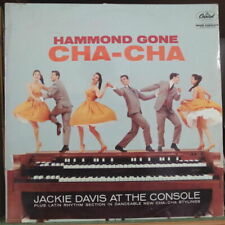 JACKIE DAVIS AT THE CONSOLE HAMMOND GONE CHA CHA COVER FRENCH LP CAPITOL 1960
