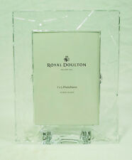 Royal Doulton England Fine Clear Glass Crystal Photo Picture Lunar Frame