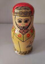 Russian Matryoshka Babushka Nesting Stacking Doll 4pc handmade family man woman