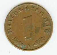 Deutsches Reich 1 Pfennig 1937 A, J. 361, Drittes Reich,  sehr gute Erhaltung