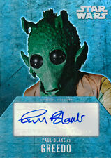 Star Wars Evolution Autograph Auto Paul Blake Greedo (A)