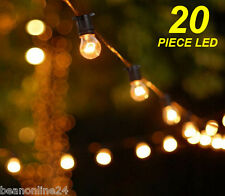 20 Metre LED Vintage Edison Clear Festoon/Party Light Kit Wedding Energy Saving