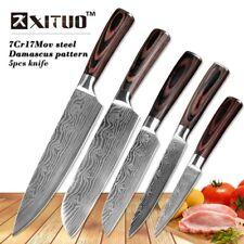 XITUO 5 PCS Couteau De Cuisine En Acier Inoxydable Lames Damas Laser Chef