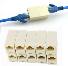 10PCS RJ45 Female to Female Network Ethernet Lan Cable Joiner Connector new A